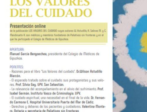 Presentación online del libro LOS VALORES DEL CUIDADO