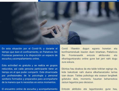 ESPACIO  DE ESCUCHA Y ACOMPAÑAMIENTO ONLINE